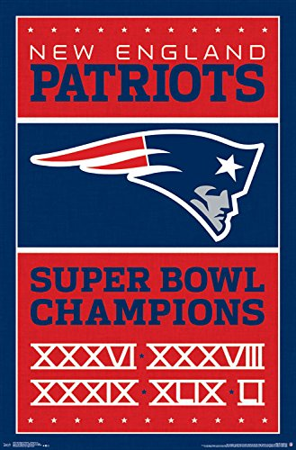 "Trends International New England Patriots Champions Wall Poster 22.375"" X 34"""