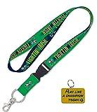 Notre Dame Fighting Irish Play Premium Lanyard Key Chain and Like A Champion Key Ring Gift Set