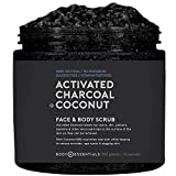 Body Essentials Activated Charcoal & Coconut Scrub - Remove Dirt & Toxins - Renew & Nourish Skin - Coconut Milk - Dead Sea Salt - 100% Natural Ingredients - Paraben/Sulfate Free review