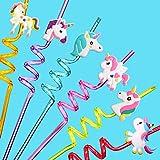 Reusable Unicorn Drinking Plastic Straws