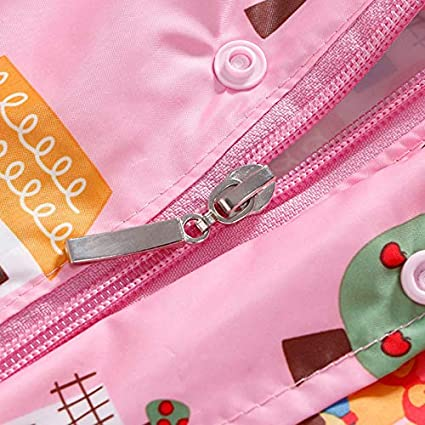 JIADIAN Giacche per la pioggia Raincoat for Kids Bambini Rain Jacket Rain impermeabile Rain Cape Rain Wear Rain per le ragazze dei ragazzi