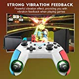 Wireless Pro Controller for Nintendo Switch, Diswoe Remote Control Gamepad for Nintendo Switch/Lite/Android/PS3/PC, Support Turbo, Motion Control, Dual Shock and Gyro Axis
