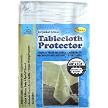 Plastic Tablecloth Protector Clear 60 x 108
