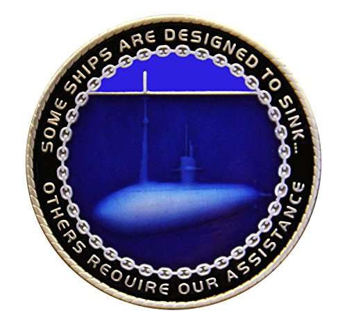 Coins For Anything Inc Navy Submarine Challenge Coin - Submariner Warfare -  Design Officially Licensed Under U S  Navy Military Challenge Coin!