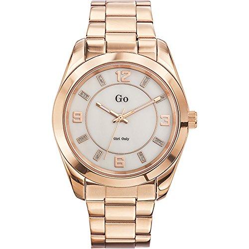 Go Girl Only - Reloj de Cuarzo para Mujer, Correa de Acero Inoxidable Color Dorado: Amazon.es: Relojes