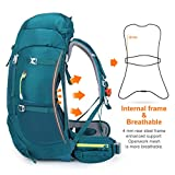 N NEVO RHINO 50L Green Hiking Backpack, Internal