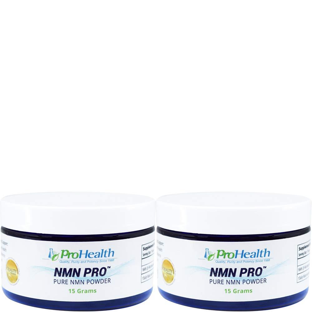 ProHealth NMN Powder 2-Pack (15 Grams per jar) Nicotinamide Mononucleotide | NAD+ Precursor | Supports Anti-Aging, Longevity and Energy | Non-GMO