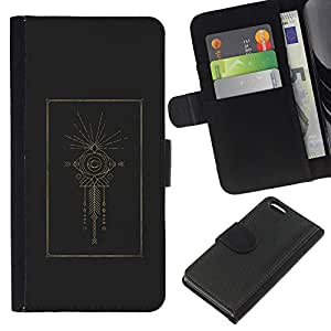 A-type (Indian Holy Structure Eye Fish) Colorida Impresión Funda Cuero Monedero Caja Bolsa Cubierta Caja Piel Card Slots Para Apple iPhone 5C