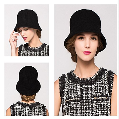 Maitose Trade  Women s Simple Wool Felt Bucket Hat  df2b61542cfb
