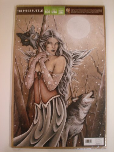 Jessica Galbreth Puzzle Winter Wood Wolf Fairy 150 Piece Puzzle 11in X 17in