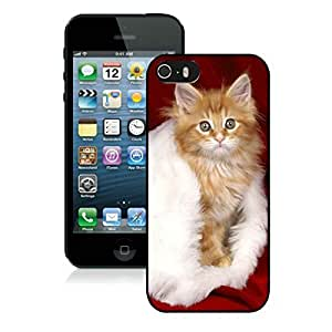 Featured Desin Iphone 5S Protective Cover Case Christmas Cat iPhone 5 5S TPU Case 18 Black