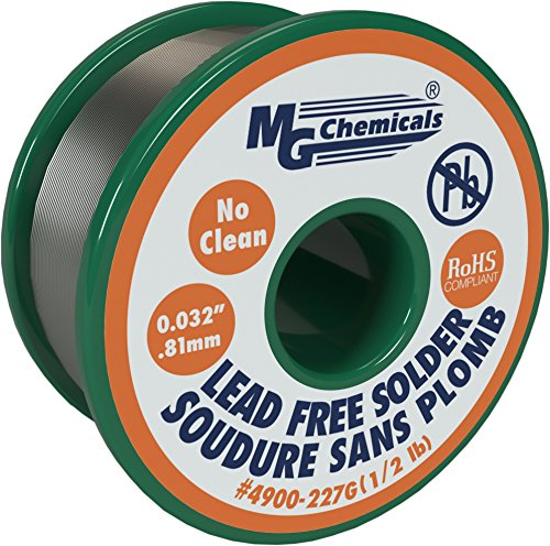 MG Chemicals SAC305, 96.3% Tin, 0.7% Copper, 3% Silver, No Clean Lead Free Solder, 0.032