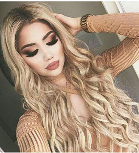 FORUU Wigs, 2019 Valentine's Day Surprise Best Gift For Girlfriend Lover Wife Party Under 5 Free delivery Sexy Gradient Black Party Wigs Long Curly Hair Mixed Colors Synthetic Wig ()