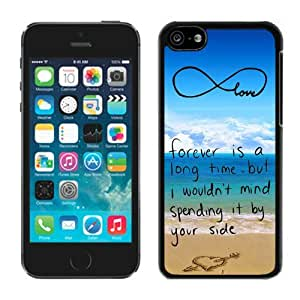Iphone 5c cases,5c cases,Pop infinity anchor with love and sandy beach design S Iphone 5c Case Black Cover by ruishername