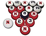 NEBRASKA CORNHUSKERS NCAA Collegiate Billiards Pool Balls Sets College CORN HUSK