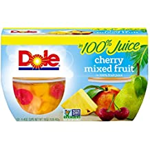 Dole Fruit Bowls, Cherry Mixed Fruit in 100% Juice, 4 Ounce Cups (Pack of 12)