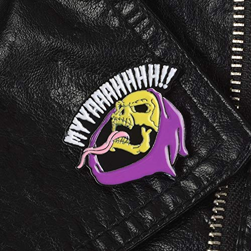 LFDHZ Skeletor pin Fictional Character Brooches Halloween Dark Badges Brooches for Men Women Unisex