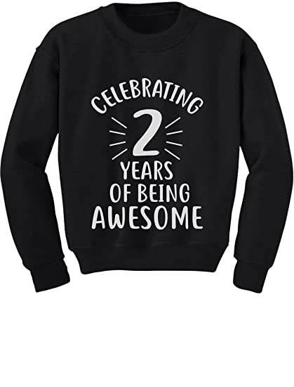 Amazon 2 Years Of Being Awesome Birthday Gift For Year Old Toddler Kids Sweatshirt Clothing