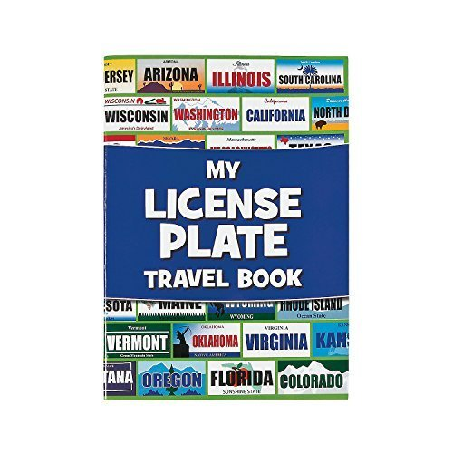 Fun Express License Plate Travel Sticker Book Game - 12 pieces