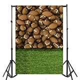Yeele 5x7ft Rugby Sports Backdrops American Football Green Lawn Playground Children Game Play Theme Wall Photography Background Children Students Boy Kids Portraits Photo Shoot Video Studio Props
