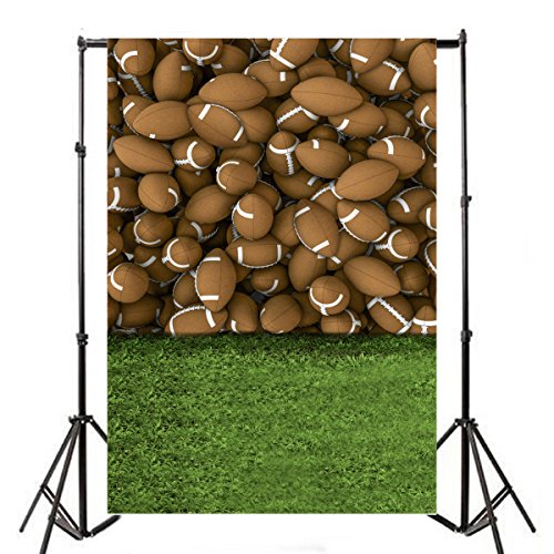 Yeele 5x7ft Rugby Sports Backdrops American Football Green Lawn Playground Children Game Play Theme Wall Photography Background Children Students Boy Kids Portraits Photo Shoot Video Studio Props by Yeele