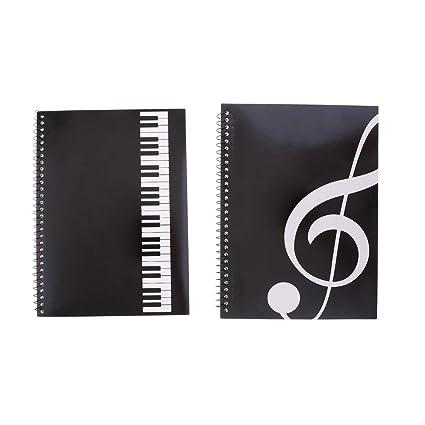 2 Piezas de Cuadernos de Notación Musical Notas Personal Accesorio ...