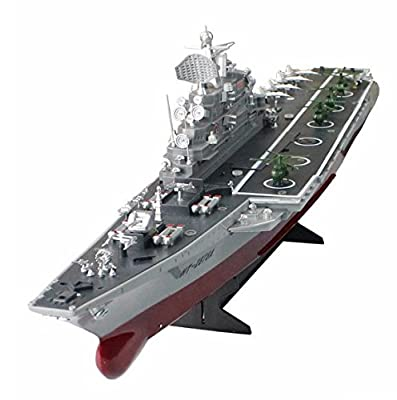 RC Boat 1:275 4CH Bismarck Aircraft Carrier WarShip Remote Control Military Naval Vessels Electronic Model