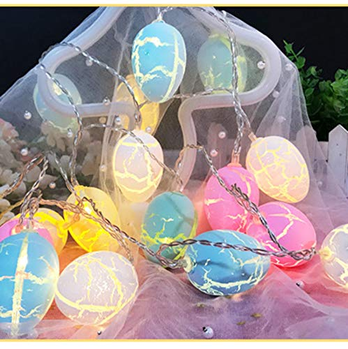 Pinkpaopao Easter Egg LED Lamp Battery Operated Lights String with 10 LED Light,Easter Party Decor for Easter Spring Theme Party Indoor Outdoor Creative Props