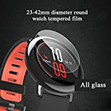Lessonmart Universal Tempered Glass for Round Watch Protective Film for Smart Watch Screen Protector Diameter 27mm 30mm 32mm 34mm 36mm