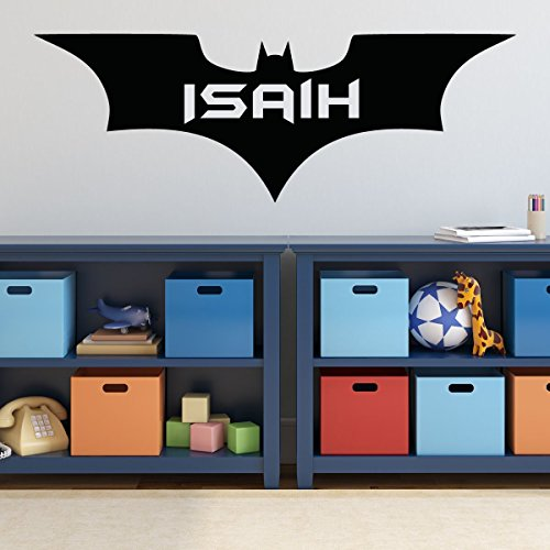 Batman Wall Decal - Personalized Superhero Icon Emblem Symbol DC Comics Vinyl for Kids or Boys Rooms Forever Emblem