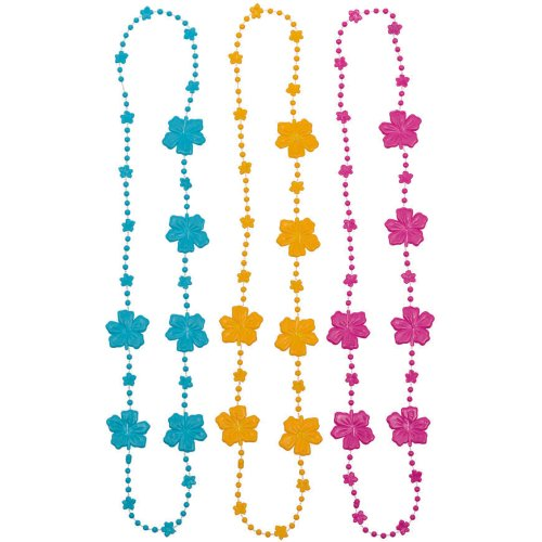 Amscan Hibiscus Bead Party Necklaces, 30