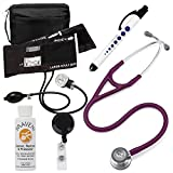 3M Littmann Cardiology Iv™ Stethoscope With Prestige Medical Aneroid Sphygmomanometer Carrying Case Pupil Gauge Quick Plum