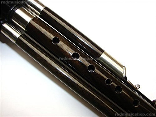 Professional Engraved Ebony Hulusi, Chinese Hulusi (Bb Key)