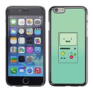 TopCaseStore / la caja del caucho duro de la cubierta de protección de la piel - Console Green Retro - Apple iPhone 6