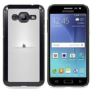 "Qstar Arte & diseño plástico duro Fundas Cover Cubre Hard Case Cover para Samsung Galaxy J2 / J200 (The Pirate Bay"")"