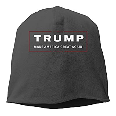 YUVIA Trump Make America Great Again Men's&Women's Patch Beanie TourBlack Caps Hats For Autumn And Winter