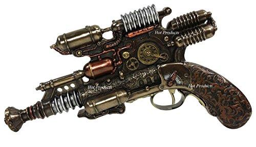 Veronese Steampunk Gauss Coil Dummy Pistol Statue 10.5 Inch Long 4