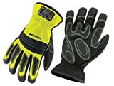 Ergodyne ProFlex 730 Fire & Rescue Performance Work Gloves, Lime, Large
