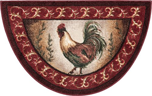 Brumlow Mills Prancing Rooster Kitchen Rug, 19-Inch by 31-Inch, Brick