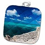 3dRose Bahamas, Eleuthera Island, Glass Window Bridge-Ca05 Wbi0427-Walter Bibikow Potholder, 8 x 8''