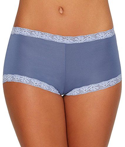 Maidenform Microfiber Boyshort, 6, Chateau Blue Lake
