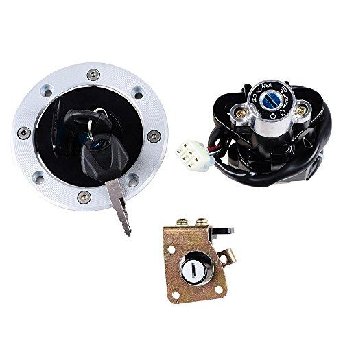 Ignition Switch Gas Fuel Tank Cap Seat Lock + 2 Keys Kit For Suzuki TL1000R TL1000S GSX600 GSX750 GSX1200 GSXR600 GSXR750 ()