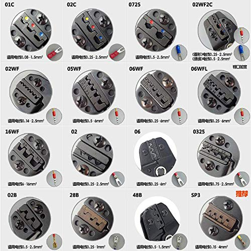 SN series crimping pliers jaw clamp mould SN-SP3 DuPont bare insulating tubular terminal plug - Sp3 Series