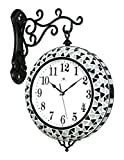 SUNQIAN-Creative European quartz clock, when the double bedroom decoration wall clock, wall clock, electronic clock hanging mute