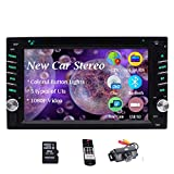 Double Din Car Stereo Bluetooth Car DVD Player in Dash GPS Navigation FM/AM Car Radio Media Receiver 6.2 inch 5-Touch Touchscreen Display 2 Din Headunit USB SD AUX in Wireless Remote + Backup Camera