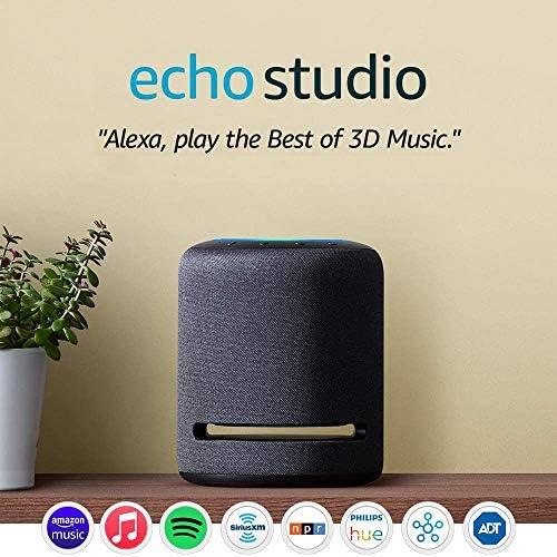 Echo Studio - High-fidelity good speaker with 3-D audio and Alexa