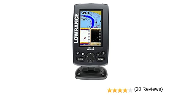 Lowrance Elite 4 CHIRP - Con Transductor 83/200 KHz + 455/800 KHz ...
