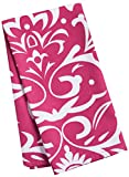 LinenTablecloth Burgundy and White Vintage Royalty Kitchen Towels, 2-Pack