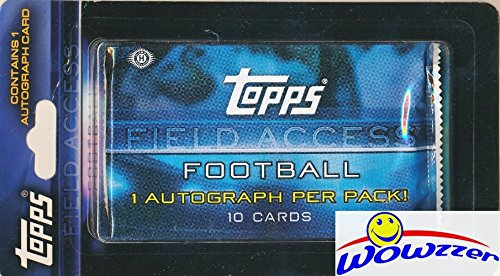 Peyton Manning Hand Signed - 2015 Topps Field Access NFL Football Factory Sealed HOBBY Hanger Pack with AUTOGRAPH Card! Look for Rookie Cards & Autographs of Marcus Mariota, Jameis Winston, Todd Gurley & Many More! WOWZZER!