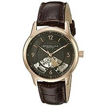 Stuhrling Original Men's 977.04 Legacy Analog Display Mechanical Hand Wind Brown Watch